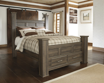 Ashley Queen Poster Storage Footboard