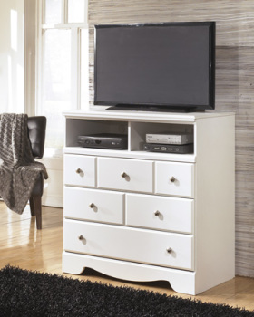 Model: B270-39 | Ashley Media Chest/Weeki/White