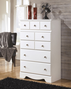 Ashley Five Drawer Chest/Weeki/White