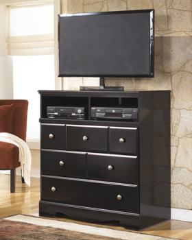 Ashley Media Chest/Shay/Almost Black