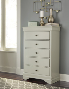 Ashley Five Drawer Chest/Jorstad/Gray