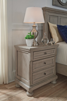 Ashley Two Drawer Night Stand/Lettner