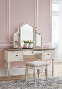Ashley Vanity/Mirror/Stool (3/CN)