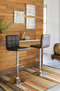 Model: D120-130 | Ashley Tall UPH Swivel Barstool(2/CN)