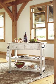 Ashley Kitchen Cart/Marlijo/White