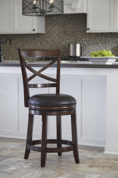 Ashley UPH Swivel Barstool (2/CN)
