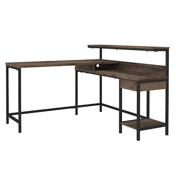 Ashley L-Desk with Storage/Arlenbry