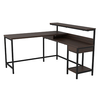 Model: H283-24 | Ashley L-Desk with Storage/Camiburg