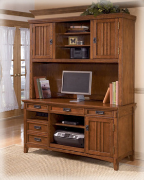 Ashley Home Office Tall Desk Hutch