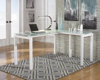 Ashley L-Desk/Baraga/White