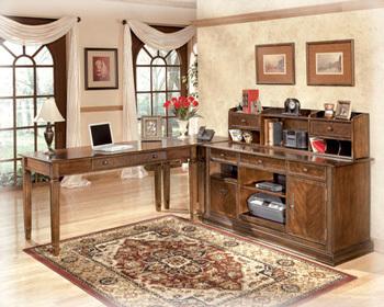 Ashley Home Office Short Desk Hutch