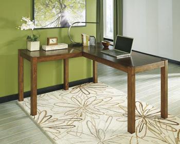 Ashley L-Desk/Lobink/Brown