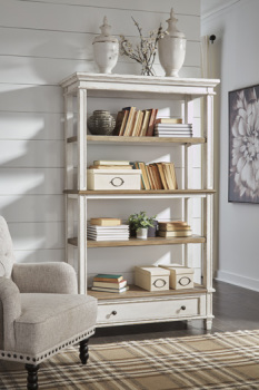 Ashley Bookcase/Realyn/Brown/White