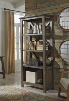 Ashley Large Bookcase/Johurst/Gray