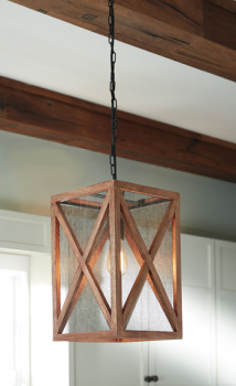 Ashley Wood Pendant Light (1/CN)