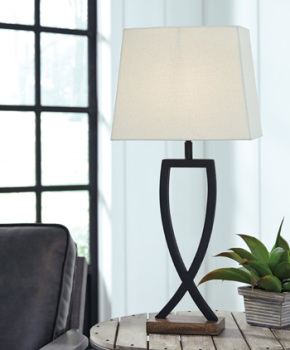 Ashley Metal Table Lamp (2/CN)/Makara