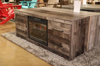 Model: EW0200-168 | Ashley LG TV Stand w/Fireplace Option