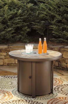 Ashley Round Fire Pit Table/Predmore