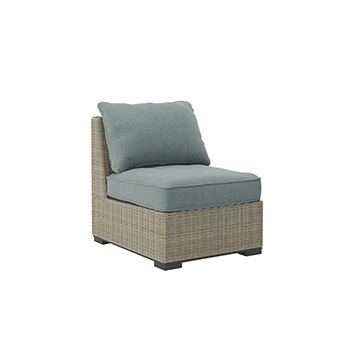 Ashley Armless Chair w/Cushion (1/CN)