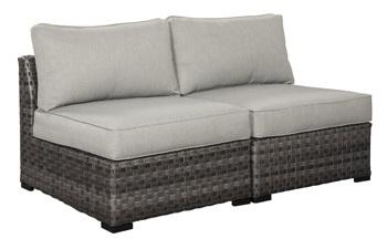 Ashley Armless Chair w/Cushion (2/CN)