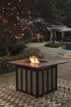 Ashley Square Fire Pit Table/Wandon