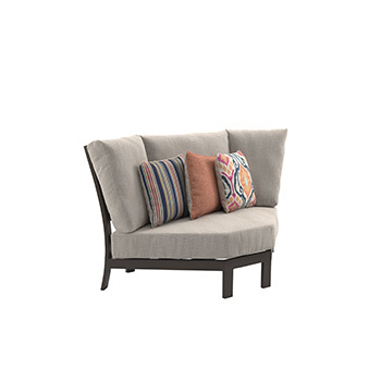 Ashley Curved Corner Chair w/Cushion