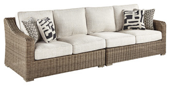 Ashley RAF/LAF Loveseat w/CUSH (2/CN)