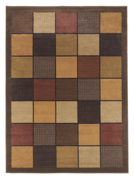 Ashley Medium Rug/Patchwork/Brown