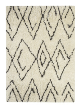 Medium Rug/Mevalyn/White/Black