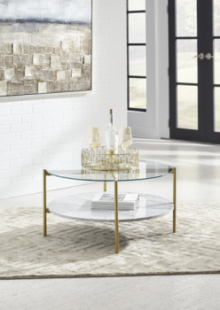 Ashley Round Cocktail Table/Wynora