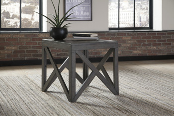 Ashley Square End Table/Haroflyn/Gray