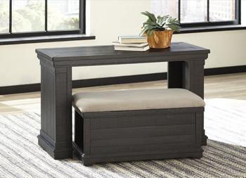Sofa Table w/Ottoman/Sharlowe