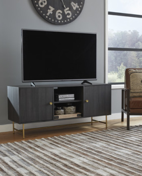 Ashley Large TV Stand/Yarlow/Black