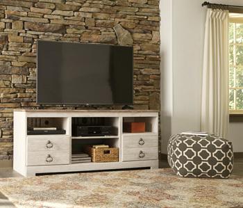 Ashley LG TV Stand w/Fireplace Option