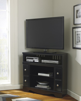 Ashley Corner TV Stand/Fireplace OPT