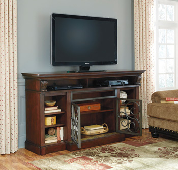 Ashley XL TV Stand w/Fireplace Option