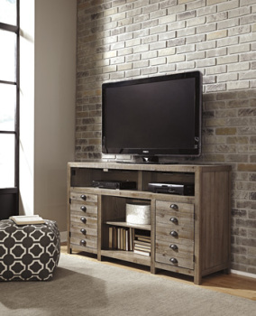 Ashley TV Stand with Fireplace Option