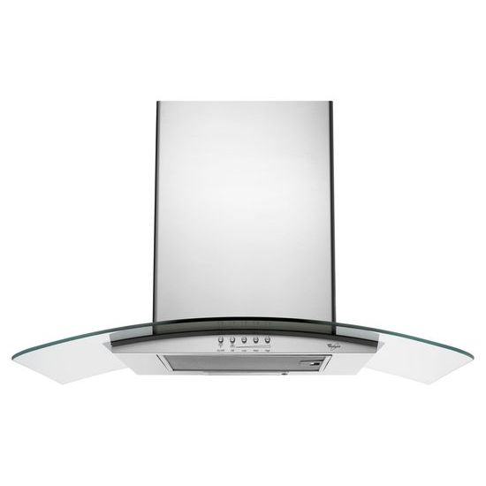 "Model: UXW6536BSS   Unbranded 36"" Convertible Wall-Mount 400-CFM Glass Canopy Hood"