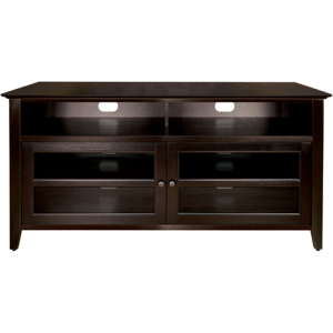 Wood Audio/Video Cabinet In Dark Espresso Finish