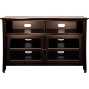 No Tools Assembly Wood Audio/Video Cabinet in Dark Espresso Finish