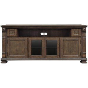 Home Entertainment Wood Cabinet in Mocha Finish