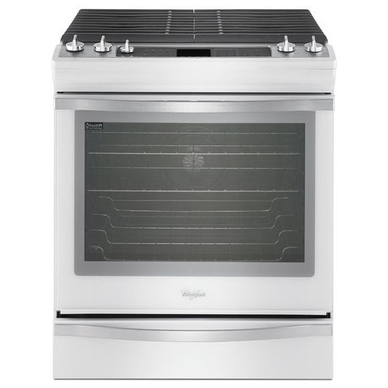 Whirlpool 5.8 cu. ft. Front-Control Gas Range Plus True Convection