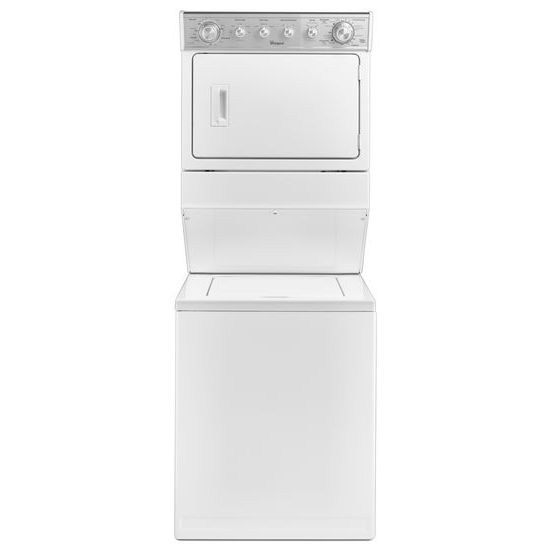 2.5 cu.ft Gas Stacked Laundry Center 4 Wash cycles and AutoDry™