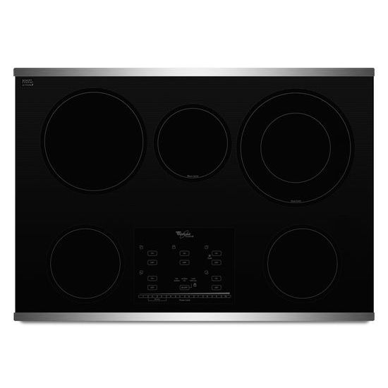 Whirlpool Gold® Series 30-inch Electric Ceramic Glass Cooktop with Tap Touch Controls
