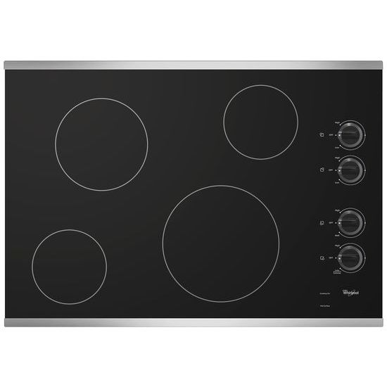 Model: W5CE3024XS | Whirlpool 30-inch Electric Ceramic Glass Cooktop