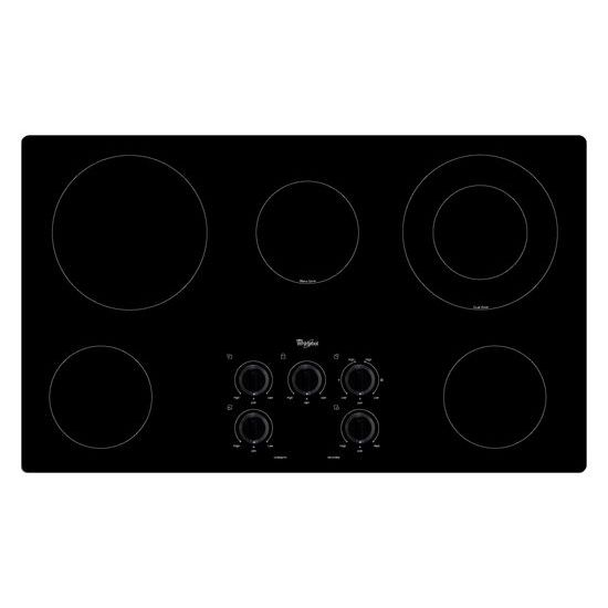 Whirlpool 36 in. Electric Cooktop with Warm Zone element