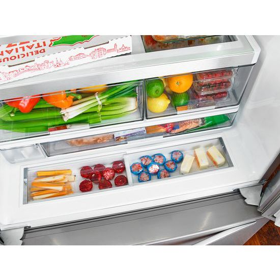 36 Inch Wide French Door Refrigerator With Infinity Slide Shelf   32 Cu. Ft