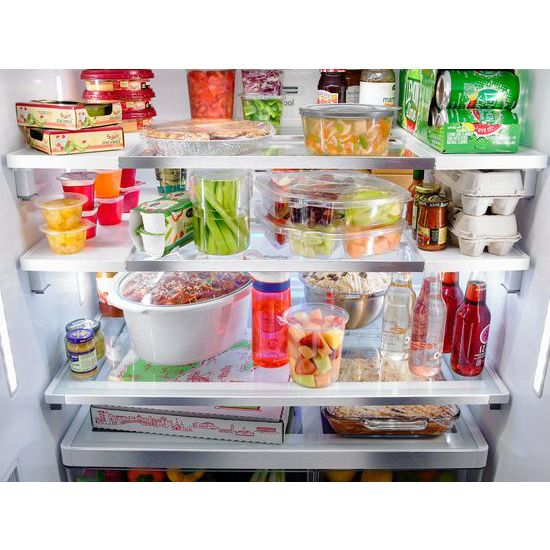 36 Inch Wide French Door Refrigerator With Infinity Slide Shelves   32 Cu.  Ft