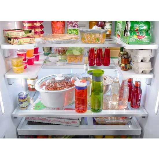 36 Inch Wide French Door Refrigerator With Infinity Slide Shelves   32 Cu.  Ft