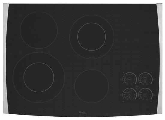 "Model: GJC3055RS | Whirlpool 30"" Electric Ceramic Glass Cooktop"